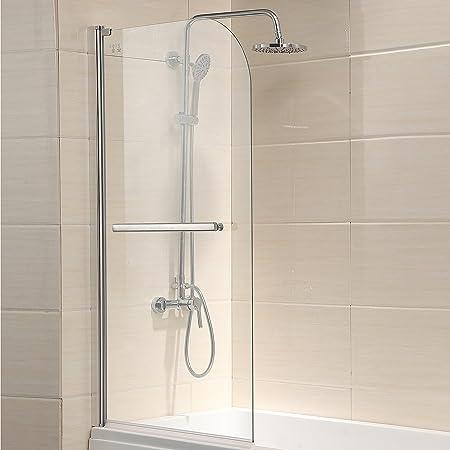800x1400mm 180 Degree Pivot Glass Shower Door Bath Screen Panel with ...