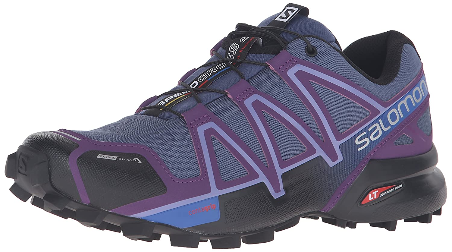 Salomon Women's Speedcross 4 CS W Trail Runner B017SQWMU4 12 B(M) US|Slate Blue/Cosmic Purple/Black