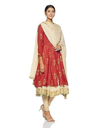 6b35df2e6 BIBA Women's Anarkali Salwar Suit Set: Amazon.in: Clothing & Accessories