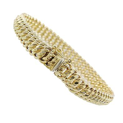 059ad52c581a3 L'Atelier d'Azur - Bracelet Femme Or Jaune - Maille Américaine ...