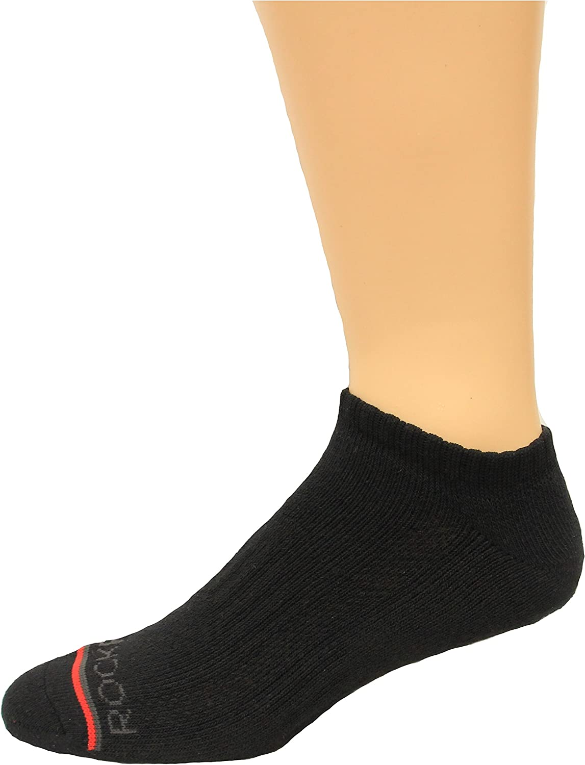 Rockport Men's No Show Socks 4 Pair, Black, Men's 8-12