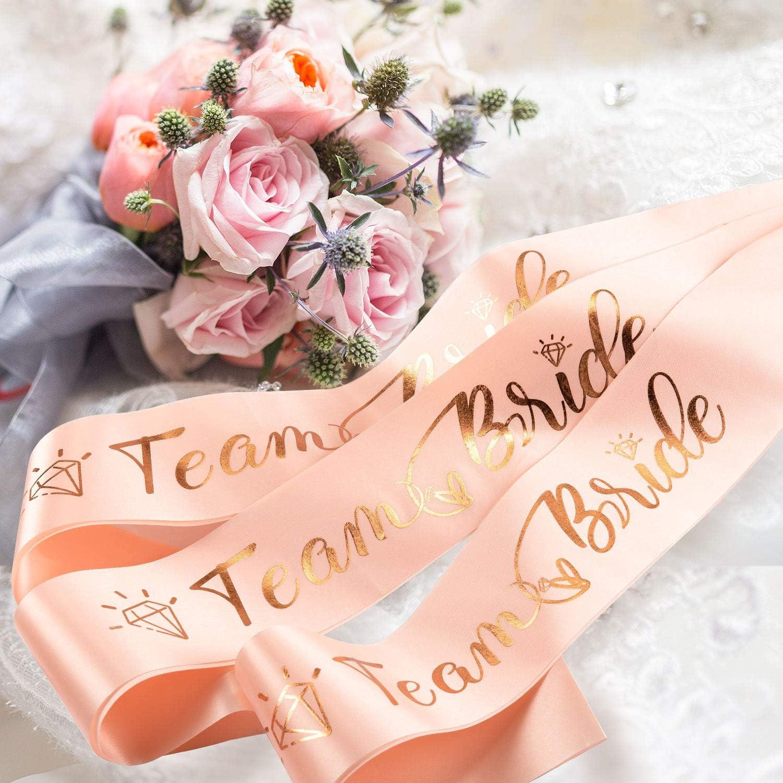 10 rose enterrement vie jeune fille rubans-Filles Soirée Mariage Fête équipe Mariée ne