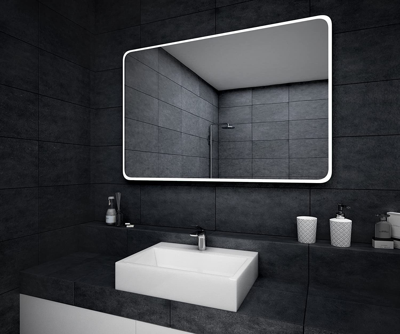 Illumination LED miroir sur mesure eclairage salle de bain