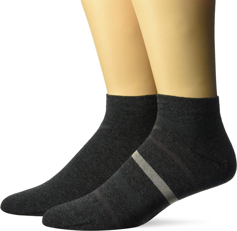 Emporio Armani Men's Multistripes 2 Pack in-Shoe Socks