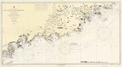 Map Of Asia Hong Kong.Amazon Com Historic Map Chart Map Asia China Southeast Coast