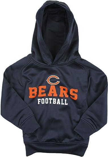 4T NFL Chicago Bears Unisex 1//4 Zip Sweatshirt Black