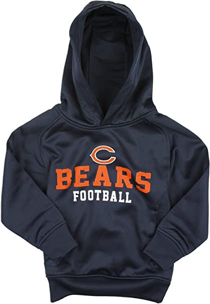 Orange NFL Youth Chicago Bears Full Zip Helmet Masked Hoodie Blue