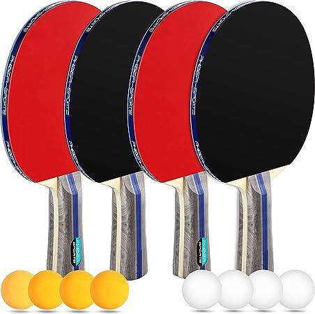 Happy People 74444 Tischtennisbälle ohne Naht 6 Stück weiß Tischtennis Ball