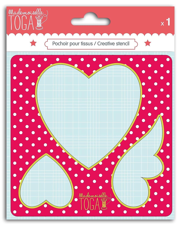 Mademoiselle Toga mero212Stencil cucito design cuore cartone grigio 12, 5x 12, 5x 0, 2cm