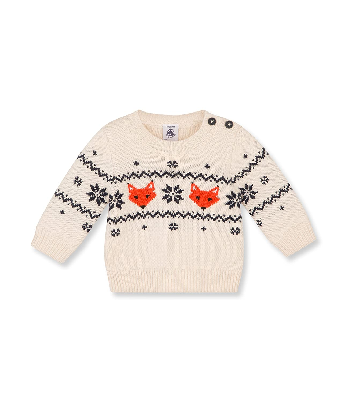 Petit Bateau Baby Boys Printed Sweater Baby