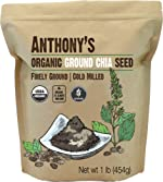 Anthony's Organic Ground Chia Seed, 1 lb, Finely Ground, Cold Milled,