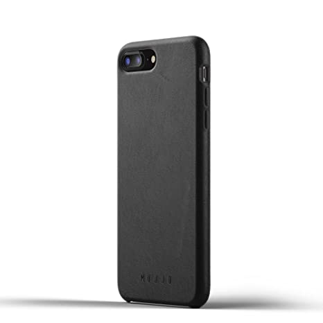 Mujjo Funda para iPhone 7 Plus, iPhone 8 Plus [Exclusiva Funda Lujosa Resistente] Leather Elegante, Fina, Anti Golpes, Ante japonés, Botones ...