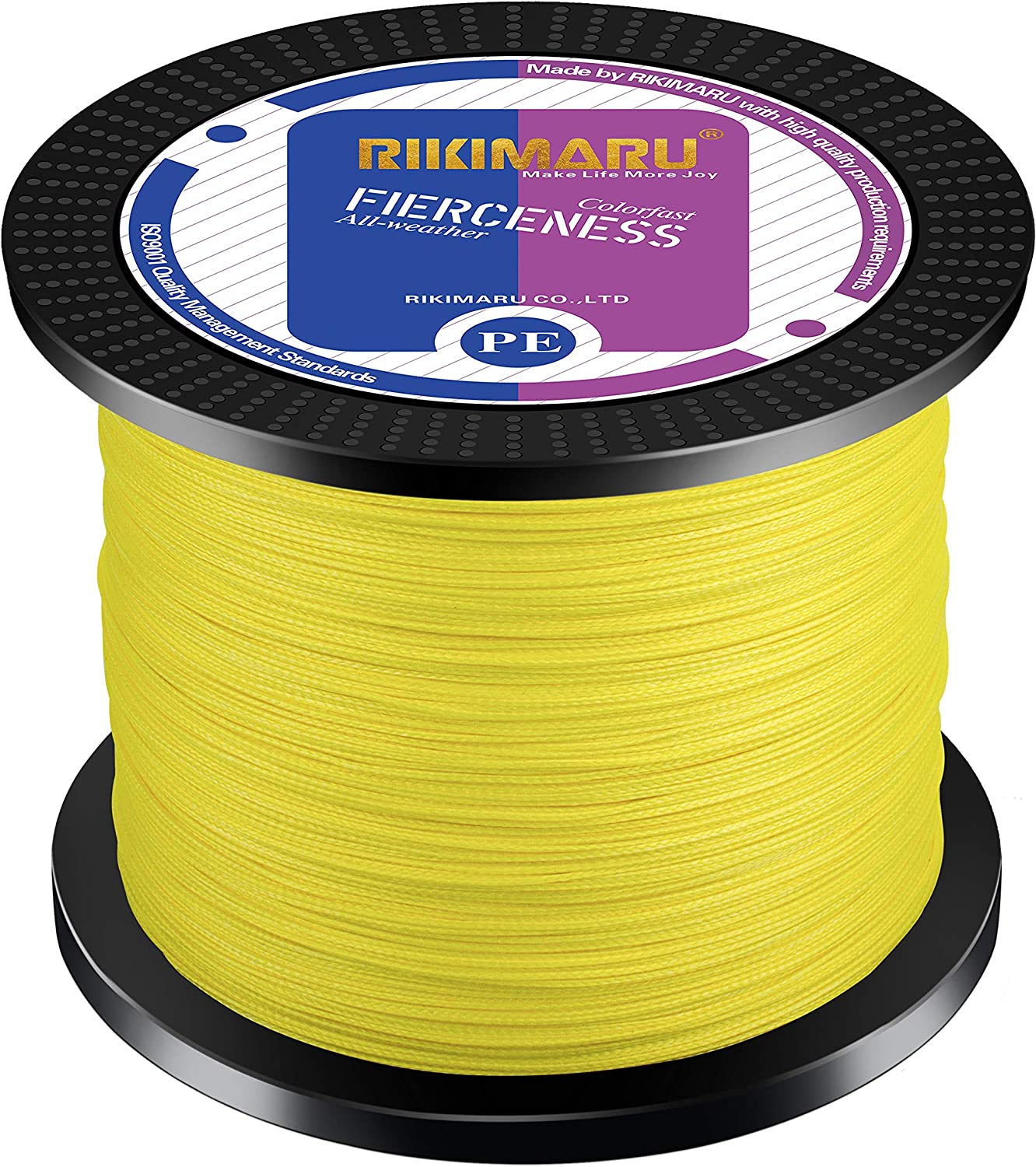 RIKIMARU Braided Fishing Line Abrasion Resistant Superline Zero Stretch Low Memory Extra Thin Diameter 327-1094 Yds, 4-180LB