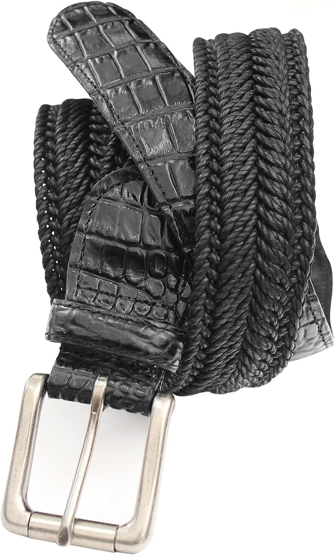 7917-NVY Marco LTD Mens Cotton Braided Dress Belt Big /& Tall