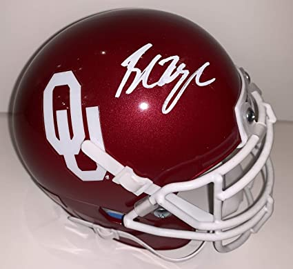 93e42a0bd Baker Mayfield Autographed OU University of Oklahoma Mini Football Helmet  Beckett BAS COA.