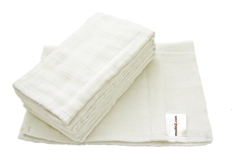 0/A 3/Meses, tama/ño 2, color blanco, Pack de 6 Muslinz Prefold Pa/ñales