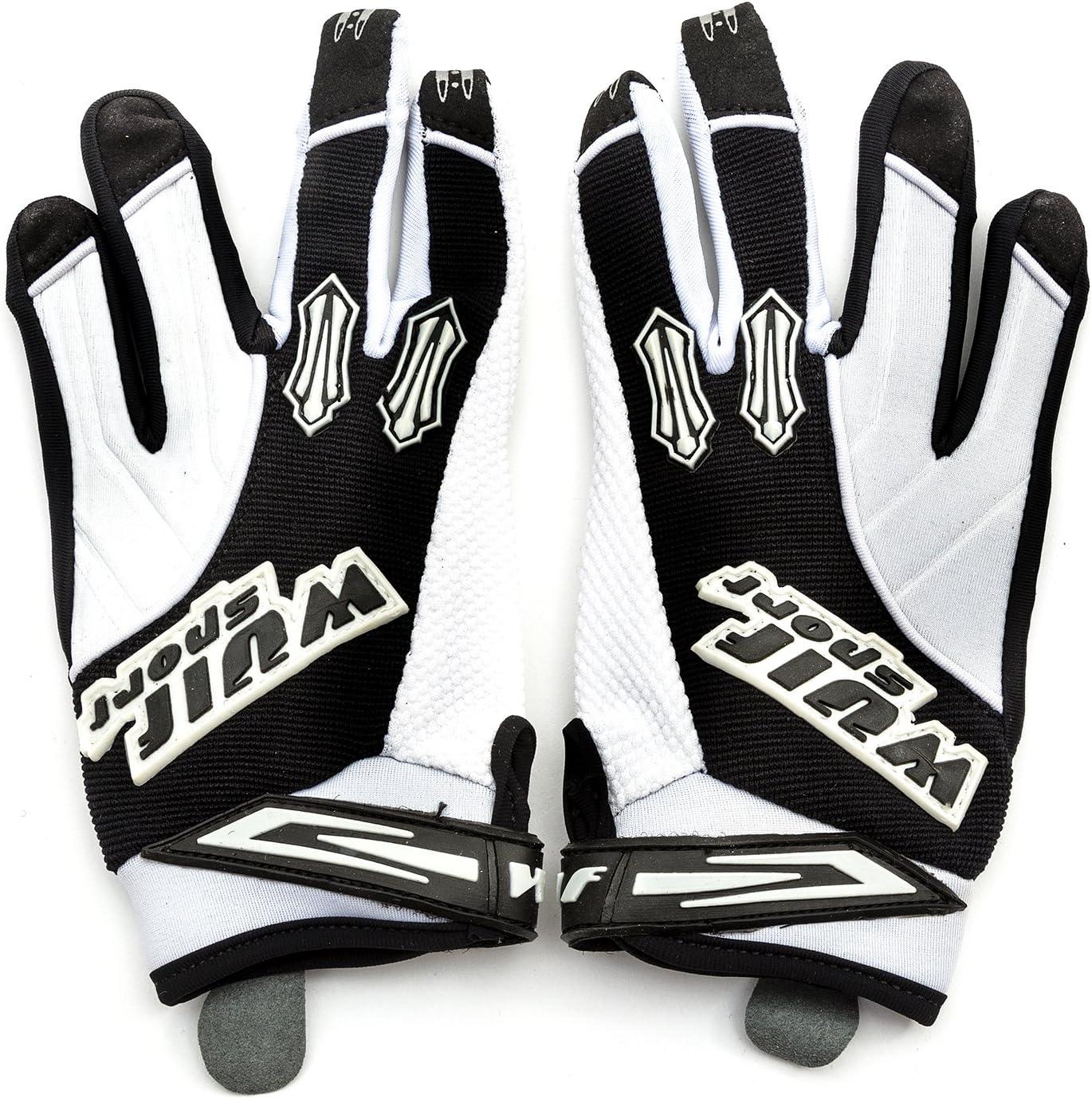 XXS 6-9 Years, White Wulfsport Kids Gloves Pair Stratos MX Junior Motocross Quad Biking
