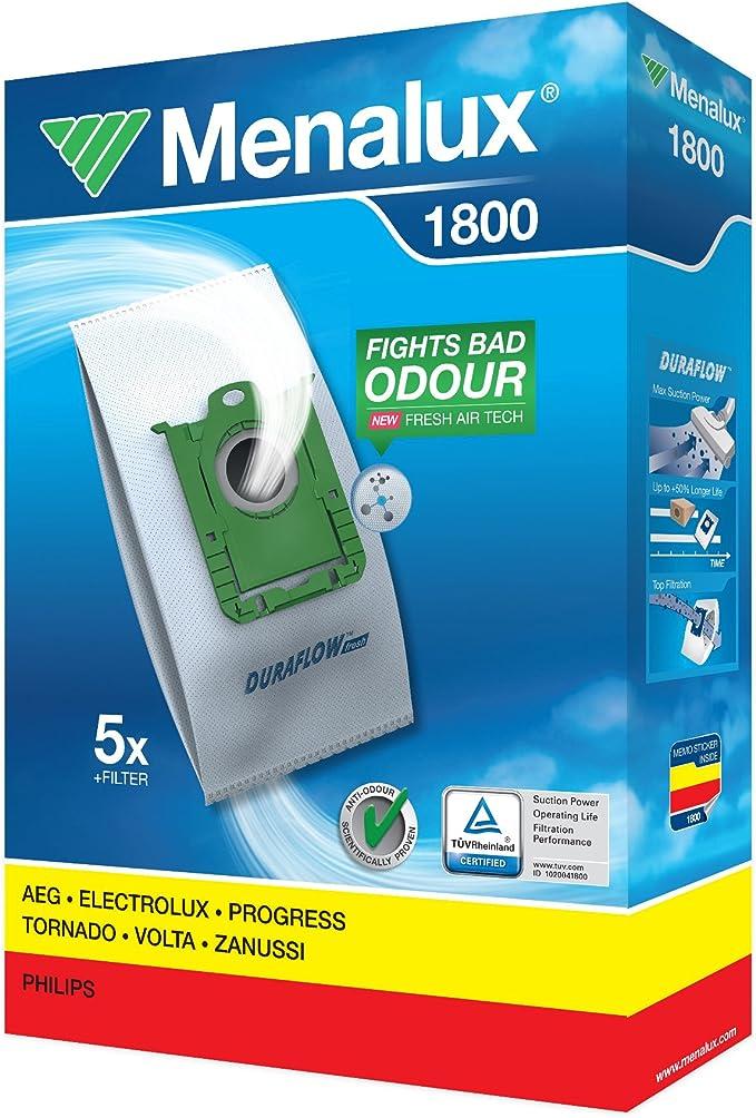 Menalux 1800 Accesorio Bolsa Aspirador 900196137 DURAFLOW, Blanco ...