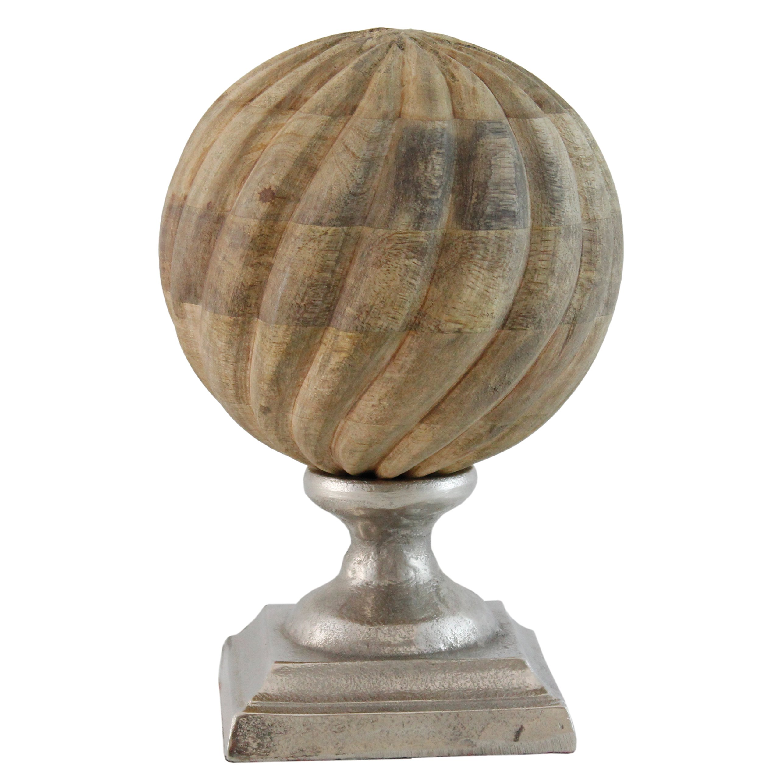 Selectives Timba Wood Decorative Finial, 10-Inch