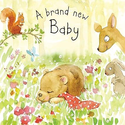 Twizler - Tarjeta de felicitación para recién nacido con diseño de ...