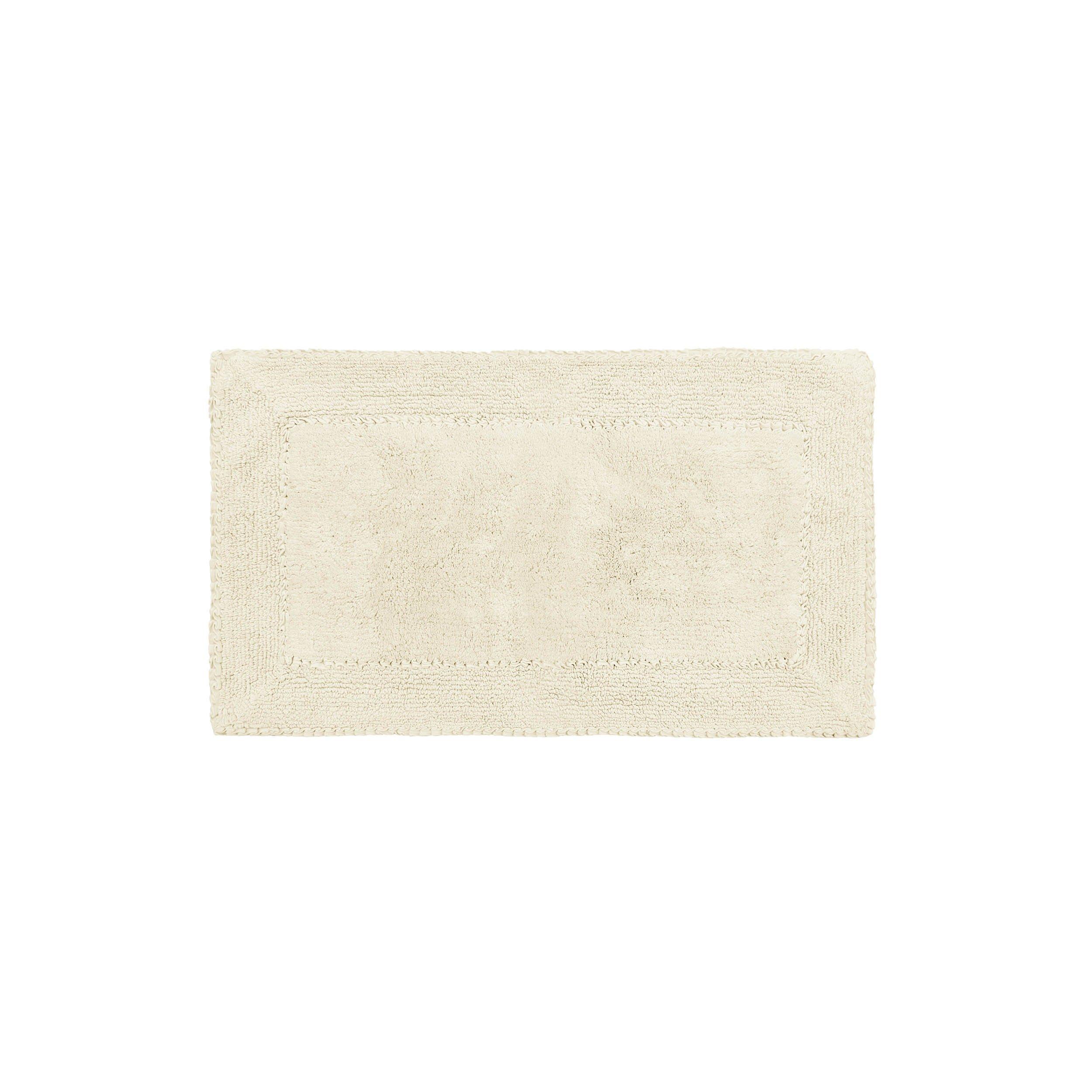 Laura Ashley Ruffle Cotton 17'' x 24'' Bath Rug, Ivory
