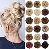 S-noilite Hair Bun Extensions Messy Wavy Curly Dish Donut Scrunchie Hairpiece Accessories Chignons Updo Ponytail Pony…