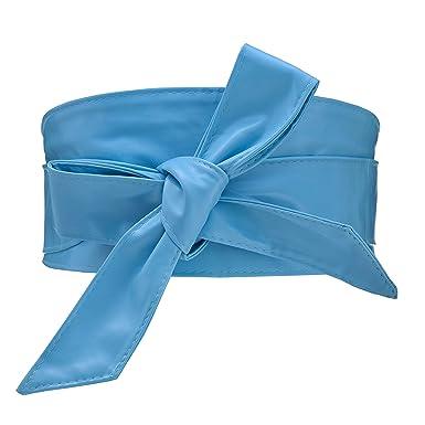 Cityelf Femme Ceinture en Cuir Souple Large Cravate pour Robe Boho Taille  Haut Accessoires Taille Migre Ceinture (Bleu ciel)  Amazon.fr  Vêtements et  ... 846c6154c5e