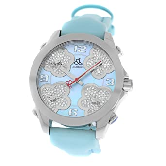 923bbc9480de9e Amazon.com  Jacob   Co. Five Time Zone JC-MATH14 Steel MOP Diamond ...