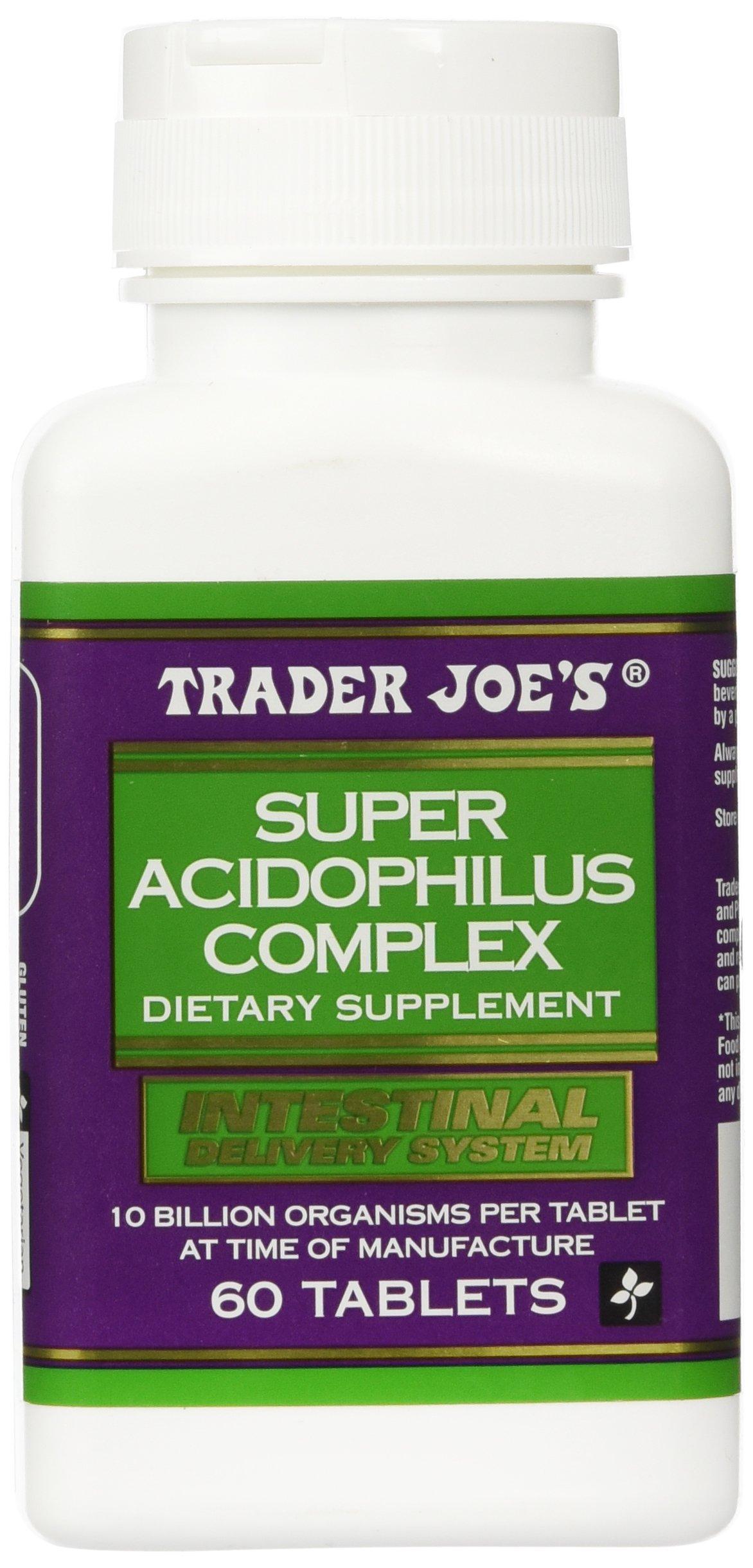 Trader Joe's Super Acidophilus Complex, 60 Tablets, 10 Billion Organisms Per Tablet (At Time Of Manufacture)