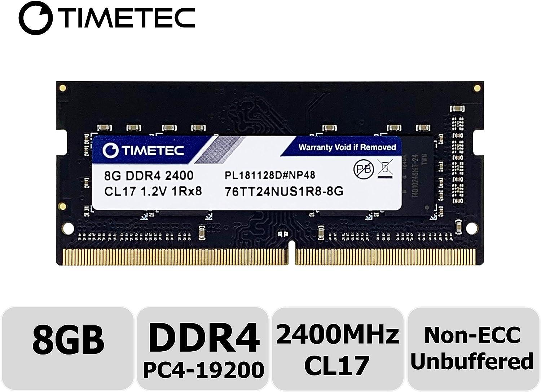 Timetec Hynix IC 8GB DDR4 2400MHz PC4-19200 Unbuffered Non-ECC 1.2V CL17 1Rx8 Single Rank 260 Pin SODIMM Laptop Notebook Computer Memory RAM Module Upgrade (8GB)
