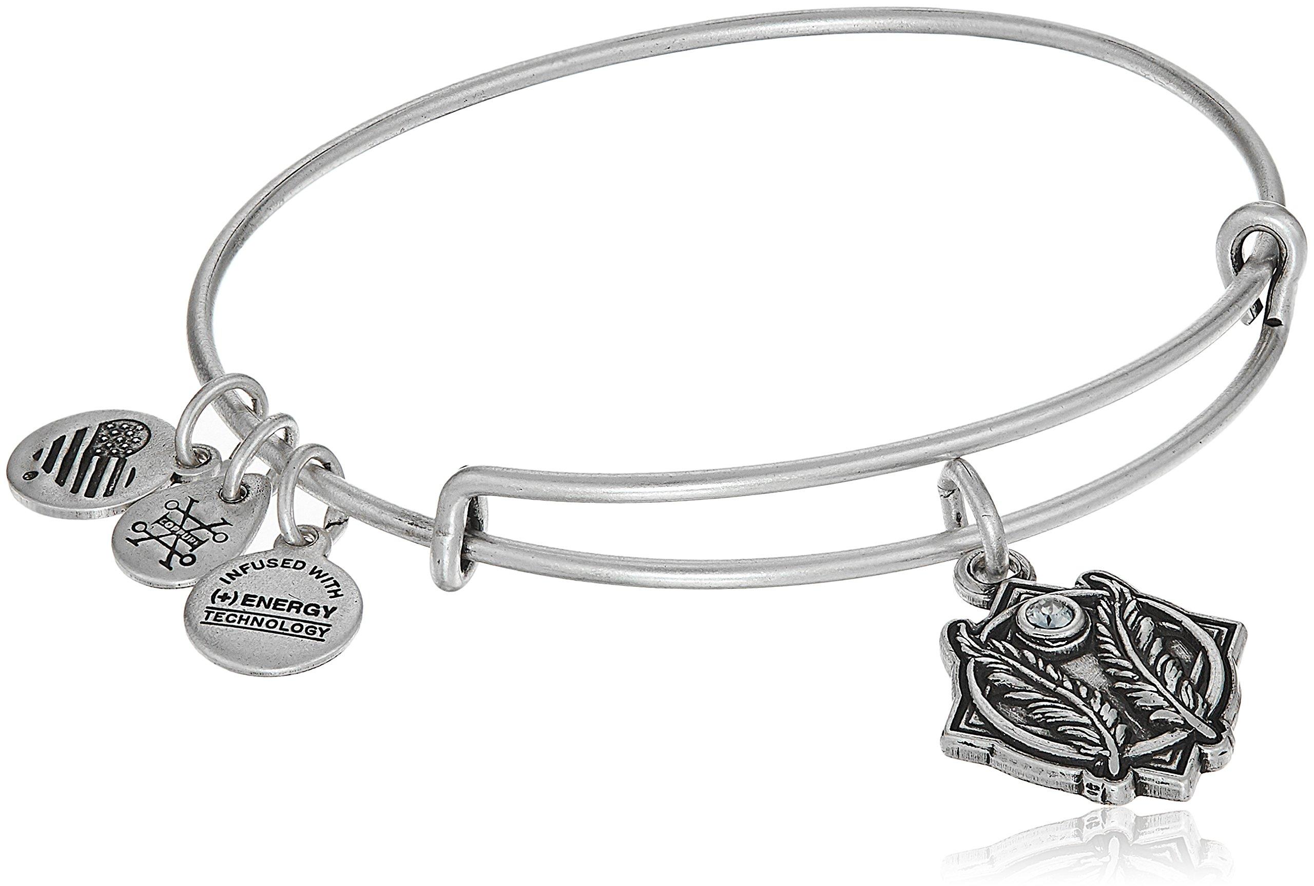 Alex and Ani Godspeed II Bangle Bracelet, Rafaelian Silver, Expandable