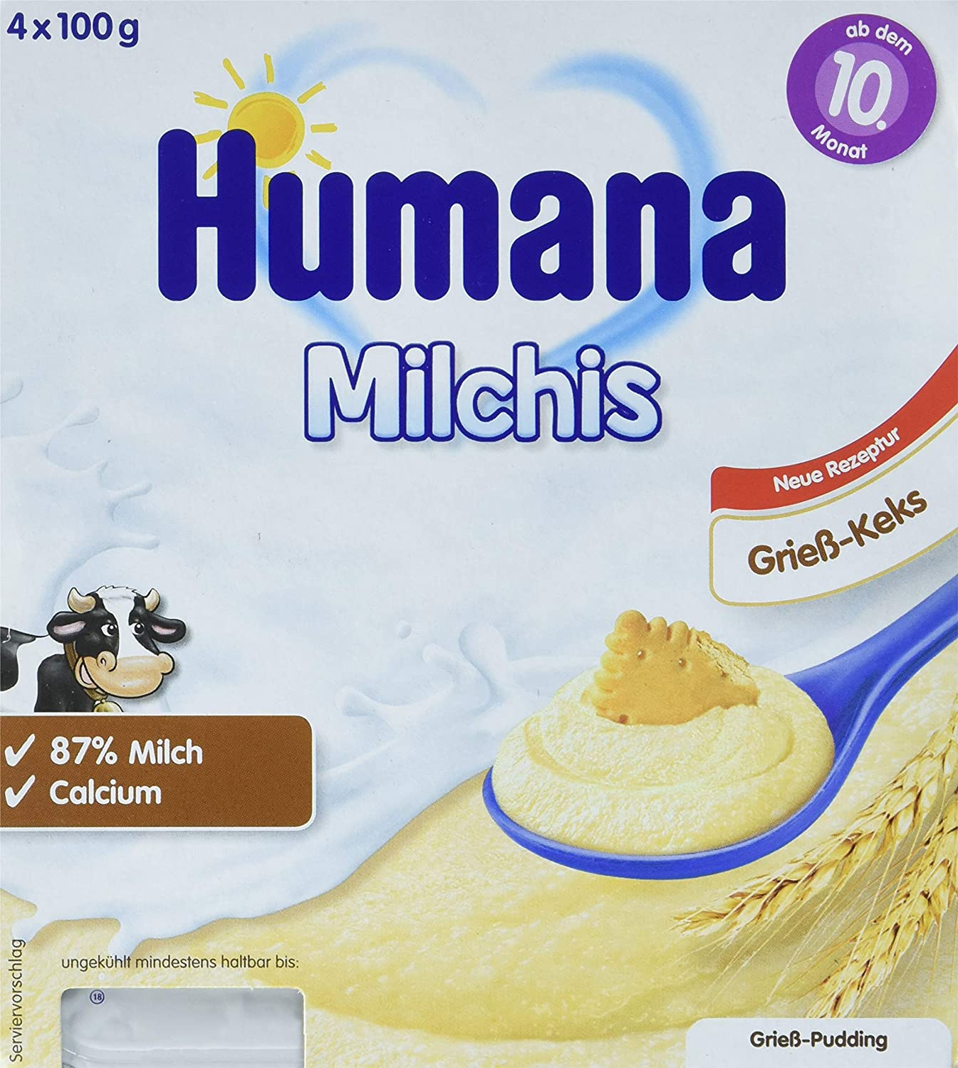 Humana Milchis Grieß Vanille, 6er Pack (6 x 400 g) Humana GmbH 70267
