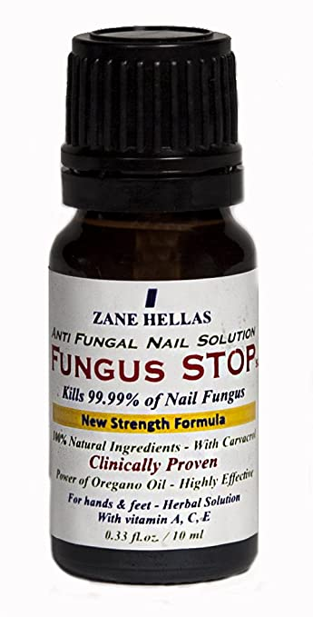 Fungus Stop. Kill 99.9% of nail fungus. Anti fungal Nail Treatment. Toenails & Fingernails Treatment. 0.33 oz - 10 ml