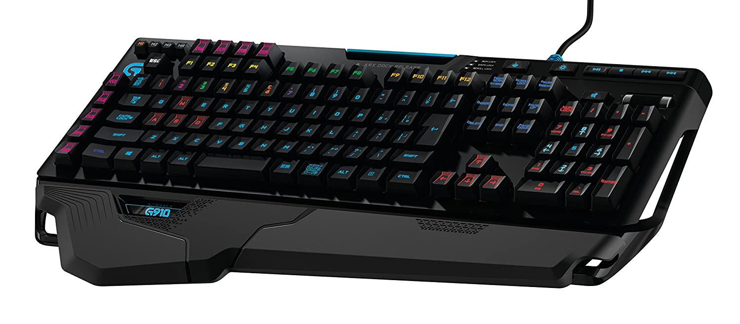 Logitech G910 Orion Spark RGB Mechanical Gaming Keyboard – 9 Programmable  Buttons, Dedicated Media Controls