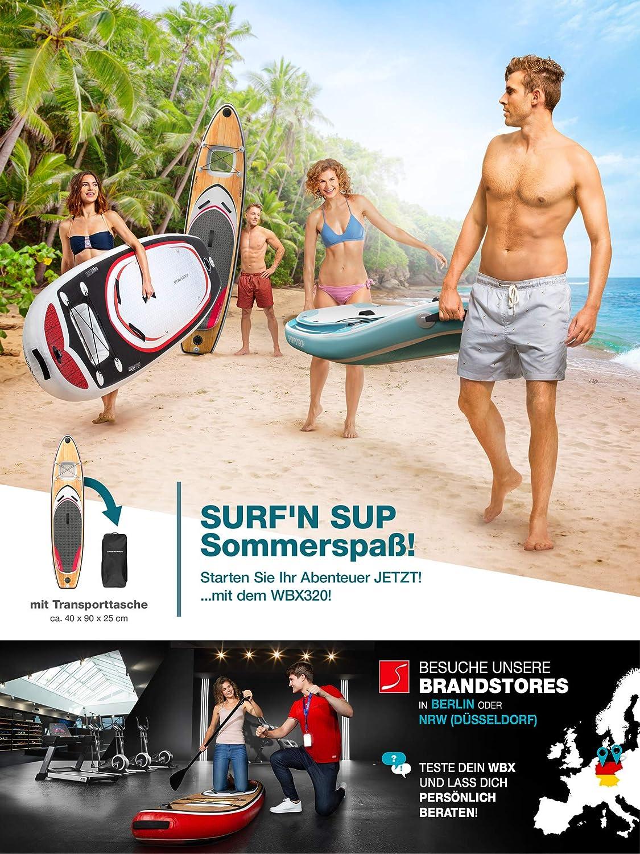 Paddling Surfbrett Deutsche Qualit/ätsmarke Action-Cam Ready +9in1 Set Messe-Neuheit 2020 Aufblasbares Stand Up Paddel Board |Wassersport Kajak Sitz Premium WBX SUP-Board mit 2in1 Sichtfenster
