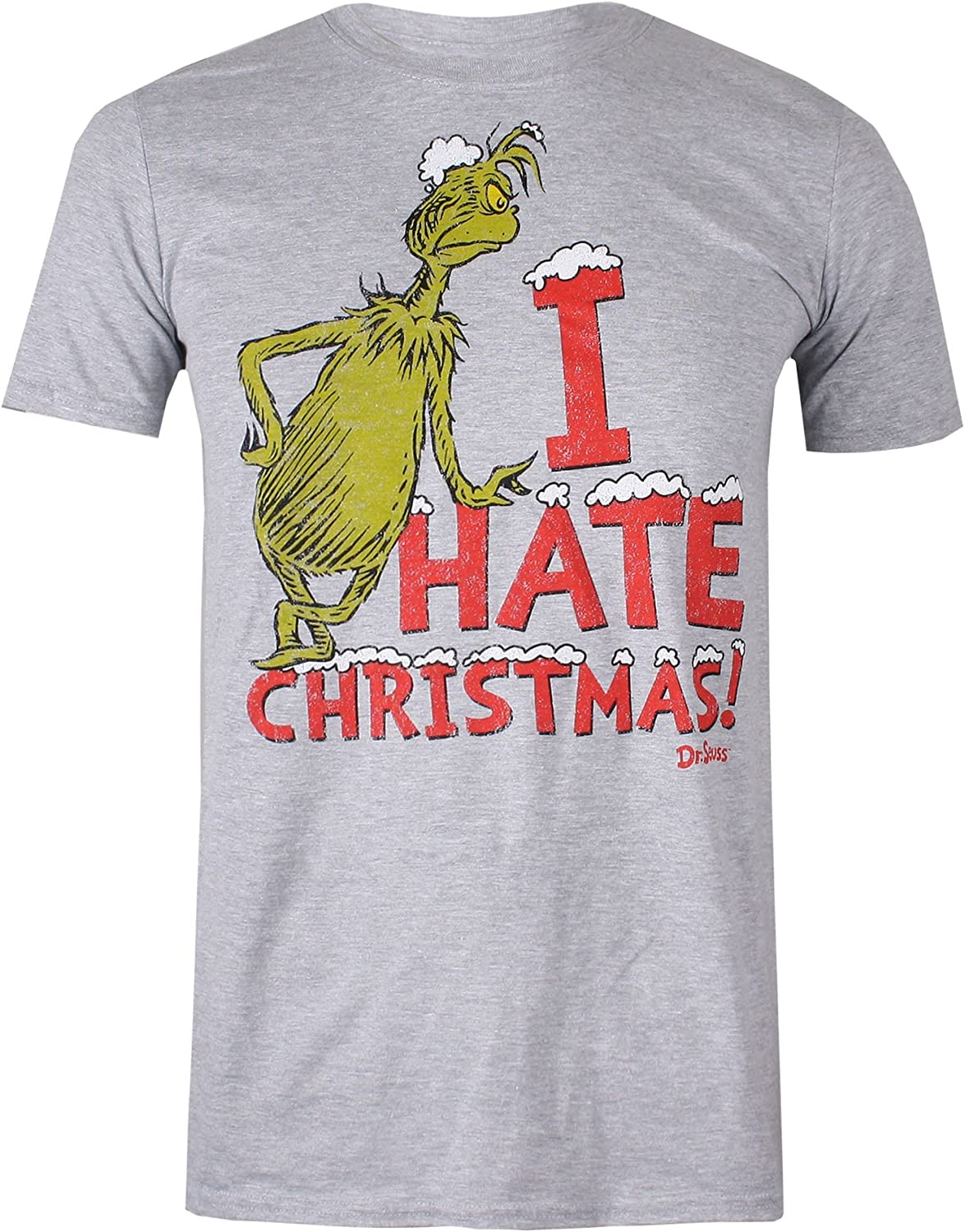 The Grinch Dr Seuss Vintage Hate T Shirt Uomo