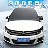 """Windshield Snow Cover,Extra Large Waterproof Windshield Cover - Snow, Ice, Frost Guard No More Scraping - Door Flaps Windproof Fits Most Car, SUV, Truck, Van with 96""""x 57"""" (96'' 57'')"""