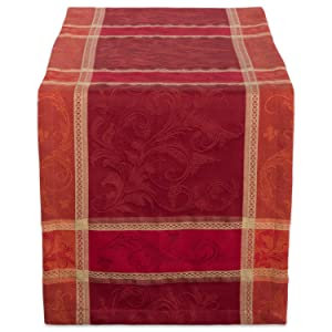 "DII 14x108"" Cotton Table Runner, Harvest Wheat - Perfect for Fall, Thanksgiving, Catering Events, Dinner Parties, Special Occasions or Seasonal Décor"