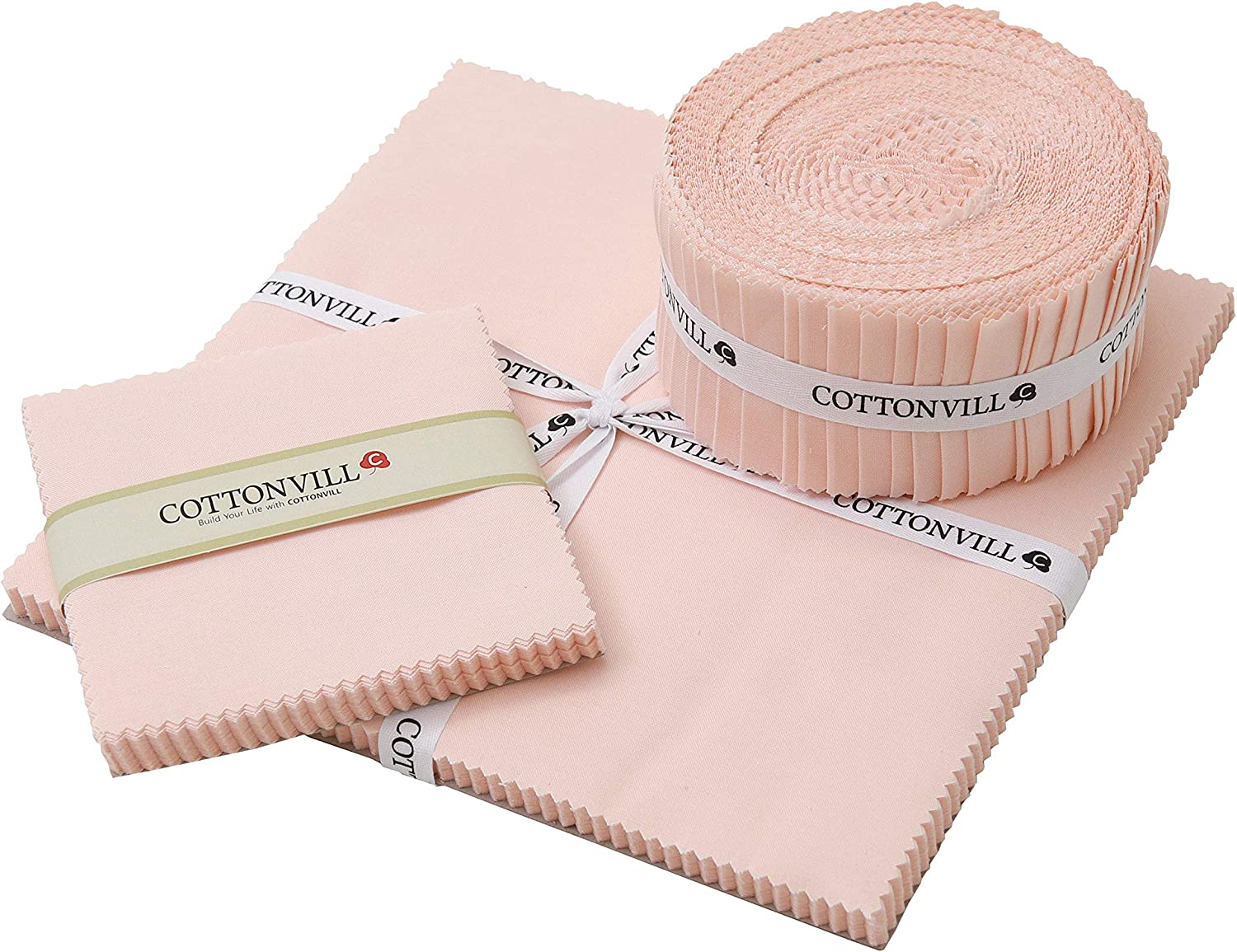 5inch square, 04-Light Gray COTTONVILL 20COUNT Cotton Solid Quilting Fabric