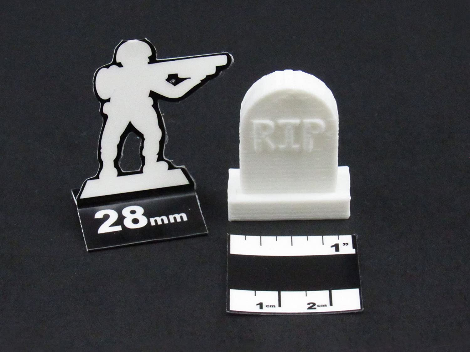 RIP Gravestones, Terrain Scenery for Tabletop 28mm Miniatures ...