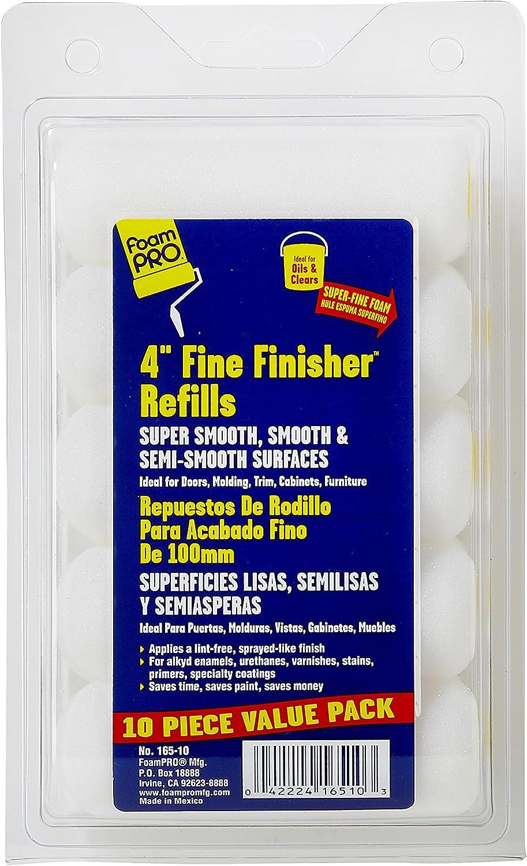 """Foampro 165-10 """"Fine Finisher"""" 4"""" Foam roller Refills Pk/10 - Paint Rollers -"""