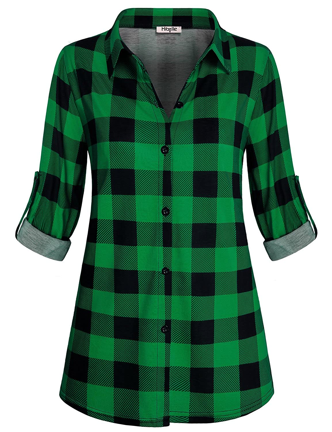 Hibelle Collared Shirts For Women Juniors Fashion Ruched Multicolor