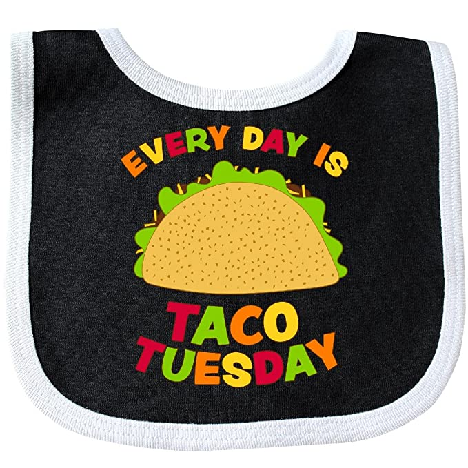 91845a55 Amazon.com: Inktastic - Every Day is Taco Tuesday Baby Bib Black ...