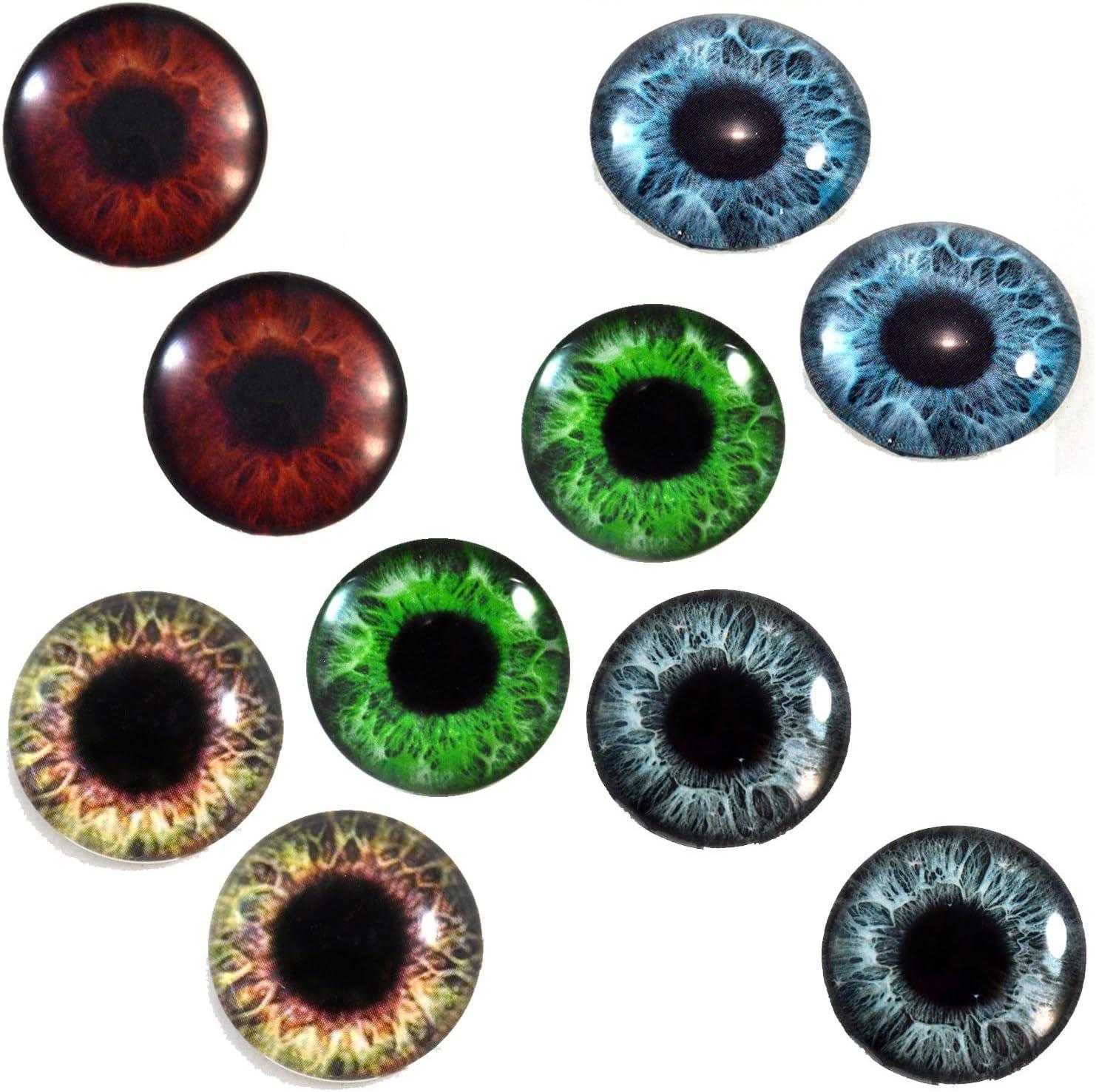 Human Doll Eyeballs Handmade Glass Cabochons Blood Shot Design 18 8mm 10mm 12mm 13mm 14mm 16mm 18mm 20mm 25mm 30mm Zombie Glass Eyes