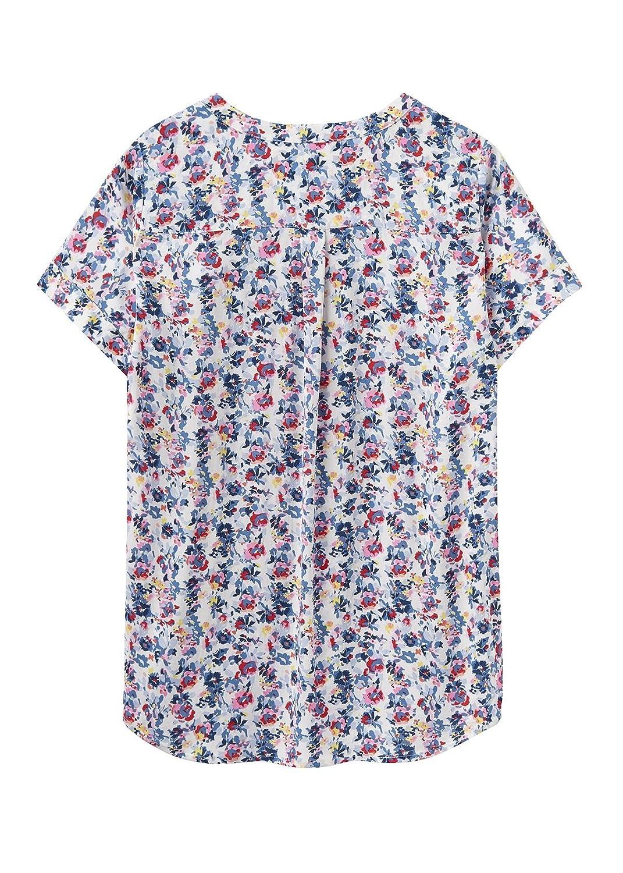 c502c69ef0b151 Joules Women's Iona Short Sleeve Blouse Cream Garden Ditsy 6 at Amazon  Women's Clothing store: