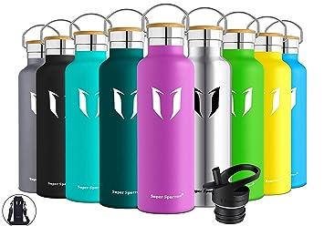 Super Sparrow Trinkflasche Edelstahl Wasserflasche - 500ml & 750ml & 1000ml - Isolier Flasche mit Perfekte Thermosflasche für