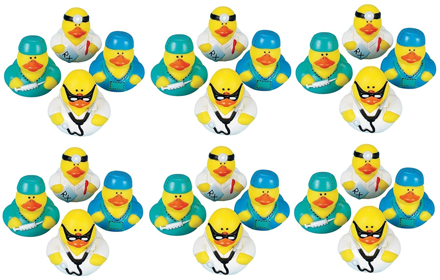 Lot Of 24 Doctor Intern ~ Rubber Ducks ~ Ducky Party Favors //Gifts FX SG/_B00LNJF1GK/_US
