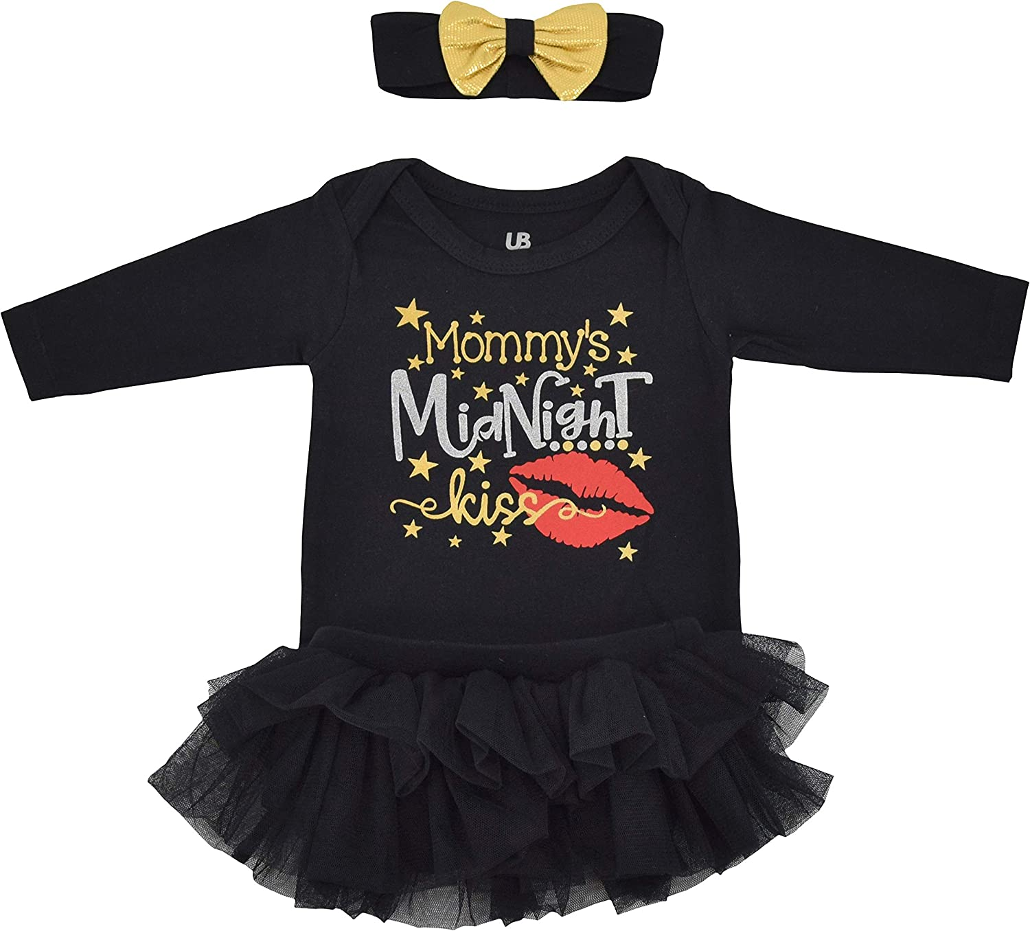 Amazon Com Unique Baby Girls Midnight Kiss New Years Eve Party Tutu Layette Clothing