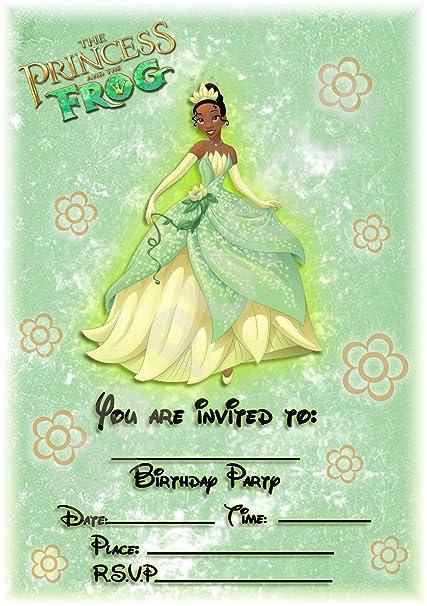Invitaciones para fiesta de cumpleaños de princesas y ranas ...