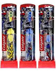 Colgate Transformers Kids Powered Toothbrush, Extra Soft, 1 Count (Colors May Vary), Assorted